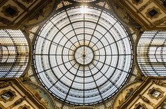 Iron-Glass Dome (ManuelHurtado) Tags: countries places architecture building city cityscape dome emmanuele europe european gallery historic historical italian italy landmark mall milan monument old shop tourism traditional travel urban vault vittorio milano lombardia italia it