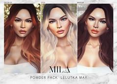 . MILA . Powder Pack Lelutka MAY (miiane SL ( MILA . POSES )) Tags: powder pack lelutka may freckles makeup applier mila milaposes secondlife