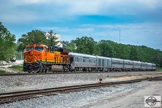 Westbound BNSF Officer Special Passenger Train at Randolph, MO