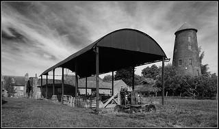 Old Barn and Windmill, Thurlaston