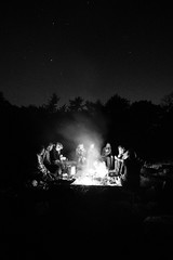 campfire (HiMortl) Tags: lagerfeuer camping campfire fire feuer langzeitbelichtung longexposure outdoor blackandwhite schwarzweis dänemark denmark hamburgerfotofreaks gendarmstien sony alpha 6500 samyang 12mm emount ilce
