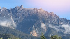 Kinabalu Mountain (herwinbahar) Tags: cloud beautiful rock gettyimages blue sky mountain