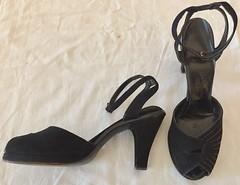 Vintage 1950s Black Suede Pumps (profkaren) Tags: vintageshoes 1950sshoes