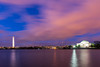 Washington Monument (blue5011b) Tags: washingtonmonument jeffersonmonument washingtondc bluehour pink sky clouds longexposure le smooth water lake tidalbasin nikon d810 2470mm