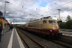 103 113 met TEE te Wittlich HBF (vos.nathan) Tags: db deutsche bahn tee br 103 baureihe 113 wittlich hbf hauptbahnhof