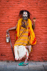 Sadhu (martinpmayer) Tags: sadhu street himalaya sagarmatha berge fishtail blue tourismus pokhara kathmandu trekking people nepal mounteverest colors sightseeing mountains tourism blau farben