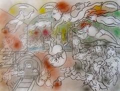 LE RÊVE D'ISABELLE : À LA GARE (Claude Bolduc) Tags: artsingulier outsiderart rawart artbrut horsnorme intuitiveart visionaryart claudebolduc selftaugh autodidacte