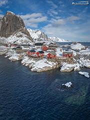 Hamnøy (dieLeuchtturms) Tags: fjord schnee norwegen nordland winter europa 3x4 lofoten atlantik moskenesøya hamnøy meer europe norge norway sea snow no