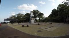Rest area clock (Hazbones) Tags: iwakuni yamaguchi yokoyama castle kikkawa suo chugoku mori honmaru ninomaru demaru wall armor samurai spear teppo gun matchlock map ropeway