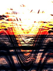Simply Merging (ColFineArtistMar1) Tags: art beach clearwater colors distortion florida horizon inspiration image nature ocean outdoors photograph sunset scenery sky textures visual waves yellow z