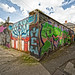 STREET ART AND URBAN DECAY - SAINT PETERS LANE [AT CABRA PARK NOT FAR FROM THE PHIBSBOROUGH TRAM STOP]-139796