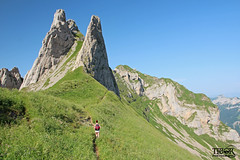 Hiker (morbidtibor) Tags: switzerland mountains säntis hiking alps appenzell alpstein