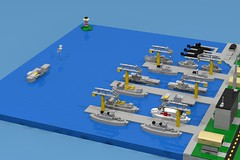 Micro Naval Base (ABS Shipyards) Tags: lego da3 decisive action 3 naval base fleet cruiser destroyer aircraft carrier battleship submarine sssn ssbn ddg cgn cvn lha bb supply ship hospital micro lighthouse