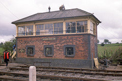 Cranmore Signal Box, 28 Jul or 3 Aug 1985 (Ian D Nolan) Tags: railway esr prinzflashmaticgt7 epsonperfectionv750scanner 35mm station cranmorestation signalbox