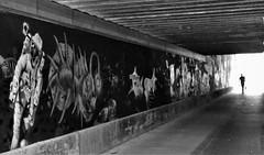 Ground Control to Major Tom.... (O.Krüger) Tags: hannover niedersachsen deutschland germany streetphotography sw schwarzweis socialdocumentary streetlife streetart silhouette bw bianconero peopleinthecity people personen graffiti tube tunnel monochrom urban urbanexploration unterführung futuristisch ngc