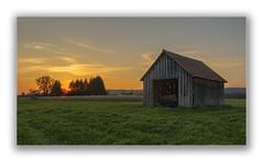 Sundown (Robbi Metz) Tags: deutschland germany bayern bavaria reischenau augsburgwestlichewälder landscape forest barn sundown sky colors canoneos