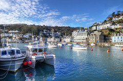 The river at Looe, Cornwall (Baz Richardson (now away until 26 Oct)) Tags: cornwall looe looeriver yachts boats cornishharbours smalltowns