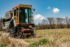 The old combine (Marty Bisson) Tags: farm field machinery nature rural blue green old rustic