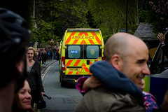 Back of the ambulance (barronr) Tags: ems england knaresborough rkabworks tourdeyorkshire yorkshire yorkshireambulanceservice ambulance bathgatephotographer care cycling help race