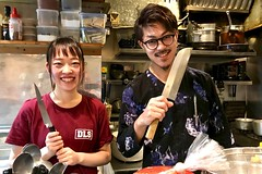 cooks at the Monorunchi tavern (micmol ) Tags: cooking cooks food japan japanese knife minorunchi restaurant shibuya tavern tokyo workers working