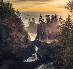 Arches and Islands (sberkley123) Tags: naturalbridges d850 nikon sunset samuelhboardman ocean 1424mm oregon usa coast pacific brookings