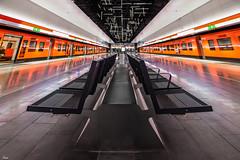 perspective (TeRo.A) Tags: keilaniemi espoo metro station colorful oranssi orange metrojuna juna train