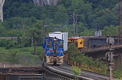 Low Grade (GLC 392) Tags: urr union railroad railway train 18 crew mla18a braddock bessemer pa pennsylvania emd mp15dc switcher 29 26 signal low grade bay window caboose