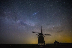 Shining Star over Het Noorden #Explore 12th May 2018 (Chris Galvin Photography) Tags: hetnoorden holland milkyway nederlands netherlands nightscape places texel windmill astrophotography explored