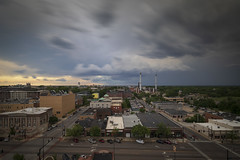 Downtown Columbia Missouri (Notley Hawkins) Tags: downtown columbia bocomo columbiamissouri notley notleyhawkins 10thavenue missouri httpwwwnotleyhawkinscom missouriphotography notleyhawkinsphotography boonebounty boonecountymissouri architecture street downtowncolumbiamissouri clouds sky skyline city outdoor buildings broadway 2018 may nisi neutraldensity road building intersection car traffic nisifilter 10stop wideangle 1124mm stormysky storms storm thunderstorm