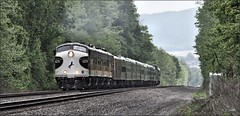 955 Westbound (Images by A.J.) Tags: train railroad railway heritage passenger emd ocs office car special f7 norfolk southern pittsburgh pennsylvania laurel highlands transportation greensburg westmoreland
