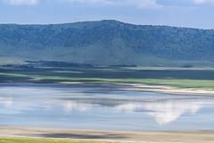 Lake Magadi alkaline lake (tmeallen) Tags: lakemadagi alkalinelake sodalake flamingos craterrim reflections clouds shoreline ngorongorocauldera ngorongorocrater tanzania eastafrica ngorongoroconservationarea wildlife safari