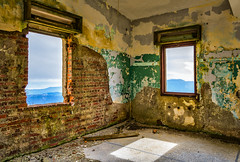 Windows of an Empty Room (HDR) (panos_adgr) Tags: nikon d7200 hdr bracketing kitheron greece indoor abandoned building decay window view texture bricks wall architecture colors light