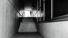 Stairs (frankdorgathen) Tags: blackandwhite monochrome schwarzweis schwarzweiss essen altendorf ruhrgebiet ruhrpott perspective perspektive wideangle weitwinkel sony alpha6000 dark stair treppe beton concrete wall wand 1018mm
