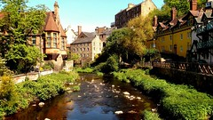Dean Village, Edinburgh, Scotland (Anthony D. Cordova) Tags: city river deanvillage edinburgh scotland buildings uk