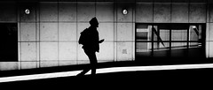 Harsher (Sean Batten) Tags: london england unitedkingdom gb docklands canarywharf eastlondon light shadow streetphotography street blackandwhite bw candid city urban person nikon d800 35mm