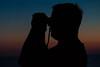 Dave stands as Look out (langdon10) Tags: atsea atlanticocean canon70d laurentiadesgagnes navigation seafarer ship sunset tanker lookout nautical