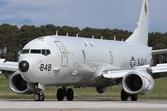 "P-8A Poseidon 168848 'LK-848' VP-26 ""Tridents"" (Mark McEwan) Tags: boeing p8a poseidon 168848 vp26 tridents usnavy usn unitedstatesnavy aviation aircraft airplane military jointwarrior jw18 maritimepatrolaircraft mpa maritimereconnaissance raflossiemouth lossiemouth patrolsquadrontwentysix patron26"