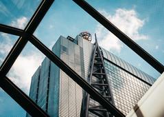 . (Richard Nabarro) Tags: glass building asia cinematic city metalic modern blue urban warm upward reflective skyscraper window sky panels financialdistrict skyline japan tokyo 60d canon