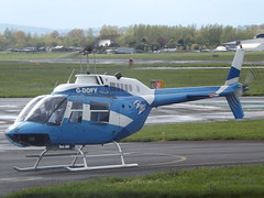 G-DOFY Bell Jet Ranger 206 Helicopter East Middlands Helicopters (Aircaft @ Gloucestershire Airport By James) Tags: gloucestershire airport gdofy bell jet ranger 206 helicopter east middlands helicopters egbj james lloyds