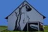 Anti nuke No pershing Death bell Land(street) art (Marco Braun (In holidays)) Tags: streetart urbanart landart spay antinuke hunsrück deutschland germany allemangne atombombe antiatom spray black white weiss schwarz noire blanche haus maison house 2016 kuh cow vache