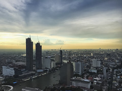 last sunset in summertime (Flutechill) Tags: bangkok tower travel traveldestinations cloudsky
