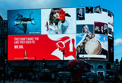 They don't make em like they used to (sarah_presh) Tags: london circus advertisement colour cocacola red city urban advert hd nikond750 piccadilly