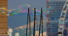 Taie bulle (ZUHMHA) Tags: marseille france bulles bubble line lignes courbes curve geometry géométrie forme form sphère cercle circle savon eau water urban urbain irisé sculpture reflet reflection
