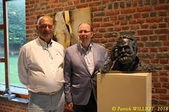 IMG_9430 (Patrick Williot) Tags: exposition vernissage ecuries sculpteur michal peintre genevieve nicolas
