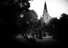 At Rest (Bill Eiffert) Tags: cemetery royton chapel graves headstones atmospheric death darkness pinholey