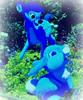 Bambi & Oswald the Lucky Rabbit (soniaadammurray - On & Off) Tags: digitalphotography manipulated experimental collage abstract arttheme waltdisneycharacters blue animals deer rabbit artchallenge