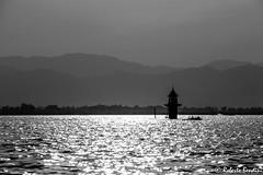 Myanmar, Inle lake. Water tabernacle (Roberto Bendini) Tags: blackandwhite sun water tabernacle temple myanmar burma rangoon yangoon mandalay lake inle