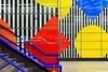Parti-Coloured - Tottenham Court Road London Underground Tube Station, London, UK (davidgutierrez.co.uk) Tags: london photography davidgutierrezphotography city art architecture nikond810 nikon urban travel color night blue photographer tokyo paris bilbao londonunderground uk londonphotographer building street colors colours colour europe beautiful cityscape davidgutierrez structure d810 contemporary arts architectural design buildings centrallondon england unitedkingdom 伦敦 londyn ロンドン 런던 лондон londres londra capital britain greatbritain tamronsp2470mmf28divcusdg2 2470mm tamron streets westend streetphotography tamronsp2470mmf28divcusd tamron2470mm cityofwestminster soho tottenhamcourtroad tube train vivid mosaic colourful interior indoor patterns