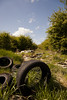 Fly Tipping In Inkerman (28) (dddoc1965) Tags: dddoc davidcameronpaisleyphotographer inkerman fields flytipping tyres asbestos rubble housewaste fergusliepark renfrewshirecouncil crime cowboybuilders waste enviroment gas canisters accidentwaitingtohappen