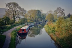 Kennet & Avon canal (Nige H (Thanks for 12m views)) Tags: nature landscape canal kennetavoncanal claverton water reflection barge england